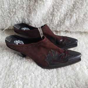 Charlie 1 Horse Handcrafted Western Leather Mules
